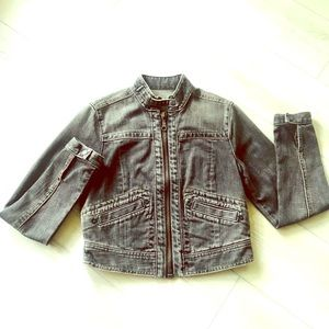 🔥 GAP Black Denim Jacket XS